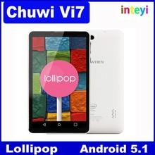 Original 7 inch Chuwi Vi7 3G Phone Call Android 5.1 Lollipop Tablet pc Intel SoFIA Atom 3G-R Quad Core IPS Screen GPS FM 1GB/8GB