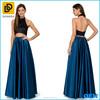 Latest Long Skirt Design Peacock Blue Satin Skirt High On Your Waistline