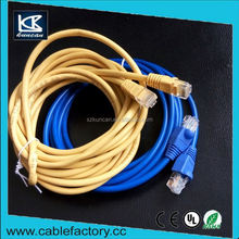 KUNCAN 24/26AWG gold plated cat5e/cat6/cat6a cable lan