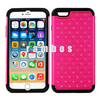 Luxury Bling Bling Star Diamond Protective Mobile Phone Cases Cover for iPhone 6 4.7 & 6 Plus 5.5