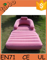 2015 fashionand and cheap flocking inflatable sofa bed/air bed inflatable bed sofa for sale made in china