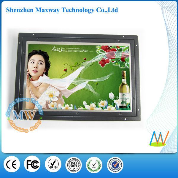10 pulgadas de alto ángulo vista de bastidor abierto pequeño monitor lcd hdmi