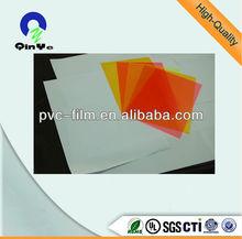 PVC transparent sheet matt matt color pvc flexible plastic sheet