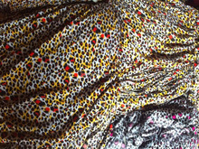 100% SPUN RAYON FABRIC PRINTED AND DYED