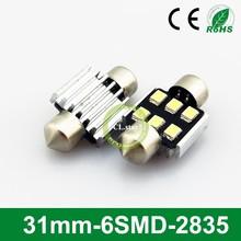 OEM packing led car emblem 31mm-6smd led festoon light 2835 chip