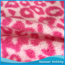 100% polyester super soft red and white dot micro fleece fabric childrens bedding