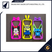 Factory price rubber custom logo cartoon mobile phone case for lg Samsung iphone