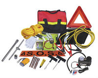Road Safety/Car/Auto Emergency Kit/Roadside Tool Set with Booster Cable and Flashlight