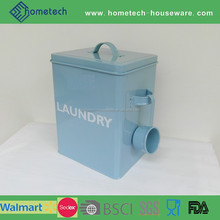 Household square metal laundry storage container