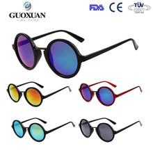 telaio in plastica cerniere in metallo cornice rotonda media grandezza supporta ingrosso occhiali da sole personalizzati