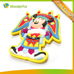 Custom Rubber Mickey Minnie Mouse Permanent Fridge Magnet Type High Quality Eco-friendly Polyresin Fridge Magnet