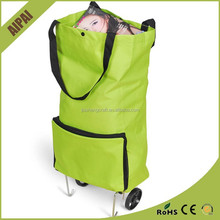 Easy carry foldable shopping trolley bag ladies trolley tote bag/shopping bag