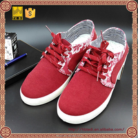 2016 new design flat casual wholesale canvas tennis shoes for lace up sneakers