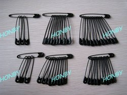 Wholesale Black Safety Pin with Steel Metal, Small Medium Large