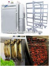 riscaldamento elettrico affumicatoio forno salsiccia di pesce con carrello