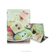 Cotton Candy Design 12.9inch Folio Stand 360 Rotating PU Leather Tablet Cover Case For iPad Pro with Elastic Belt