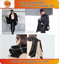 Wholesale extra long pashmina/girls winter knit plaid pashmina shawls scarf