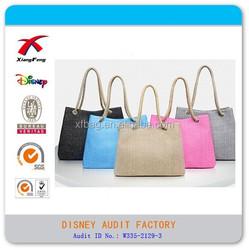 Fashion Designer Lady Woman Handbag, Wholesale Handbag China, Canvas Shoulder Shopping Tote Bag