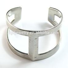 argento placcato moda bracciale largo