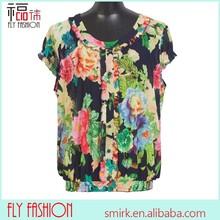 F176-12# Lady's summer chiffon blouse floral fat women plus size tops XXXXXL