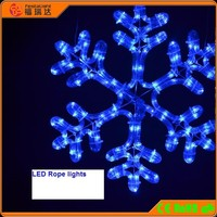 led rope light Snowflake/christmas snoflake/outdoor light snowflakes