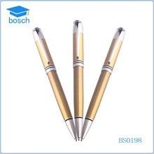 Cheap promotional luxury ballpoint pen golden metal pens