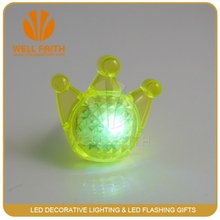 Funny smiling light up ring , flower led flashing ring