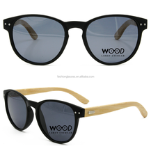 top quality unique vogue round plastic frame wood bamboo polarized sunglasses low moq unisex