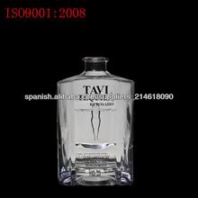 botella vidrio cognac de 750ml cuadrado