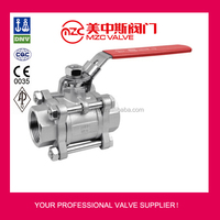 3PC Stainless Steel Ball Valves Threaded Ends 1000WOG 3 Piece Ball Valves