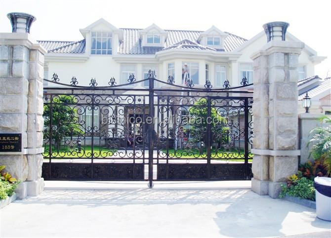 Bisini Luxury Sliding Design Gate Sliding House Main Gate
