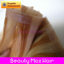 Beautymaxhair 2013 best quality and permanent Cambodian hair extensions remy pu skin weft hair extensions