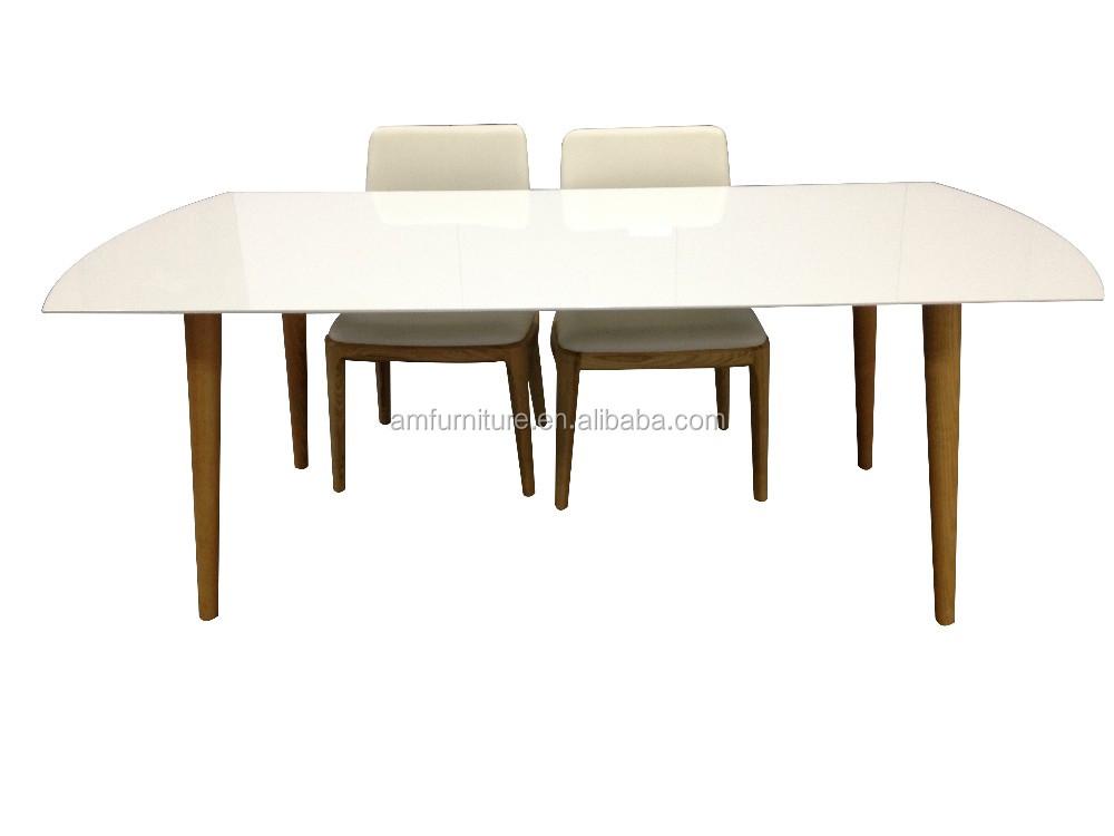 새로 deisgn 고광택 흰색 라운드 Mdf 식탁-목재 테이블 -상품 ID ...