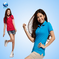 Women's Fashion Short Sleeve Polo Shirt, New Design Shirt For Summer Wholesale, sublimated polo shirt