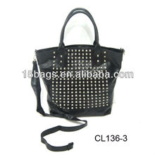 2012 fashion studded tote bag