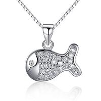 Wholesale Fantasy Jewelry Animal Jewelry Accessories Fish Shaped Pendant Women Accessories Turkish Silver Jewelry