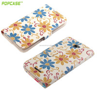 Alibaba Express Color Cell Phone Case Flower flip case cover for sony e4