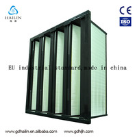 Water-resistant Micro Fiberglass V Shaped Air Filter