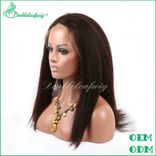 Can be dyed length availible natural gray human hair in stock