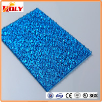 Solid polycarbonate roof sheet and plastic shed roof PC roofing embossed sheet