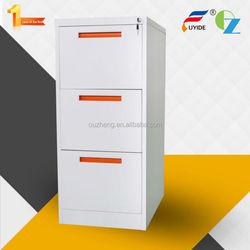 Hot sale anti-tilt lockable 3 drawers DIPLOMAT FIRE RESISTANT FILING CABINETS