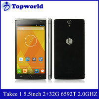 2015 New Arrival Innovation 5.5 inch 2GB RAM 32GB ROM 13MP MTK6592T True Octa-Core 2.0 GHz Takee1 Mobile Phone