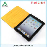 Standing Smart cover for ipad 2 3 4, leather case for ipad 4/3/2, for ipad tablet case