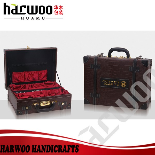 Good design pu leather wine carrier