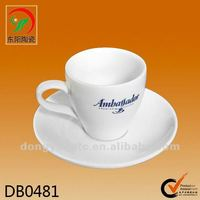 hot sales customized ceramic cup and saucer