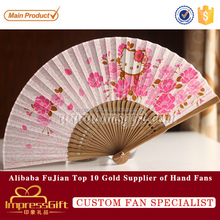 New style personalized paper hand fans kids favor