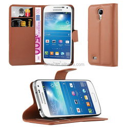 Lichee Pattern PU Leather Mobile Phone Stand Flip Case For Samsung Galaxy S4 Mini