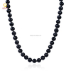 Simple design black glass bead jewelry choker necklace for women