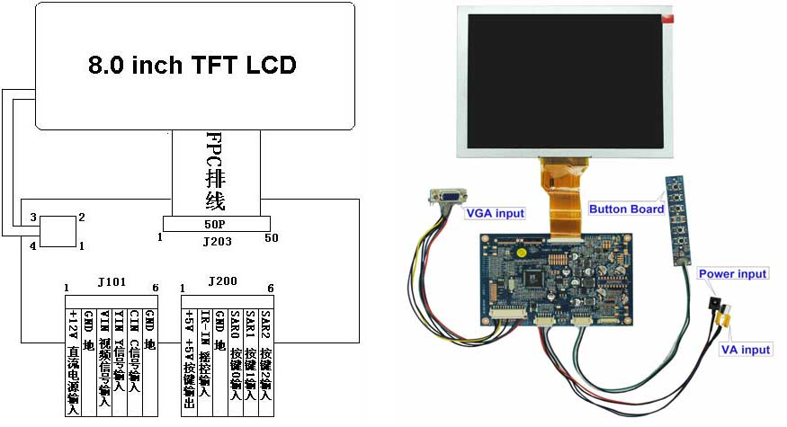 7 tft lcd monitor wiring diagram 7 get free image about wiring diagram