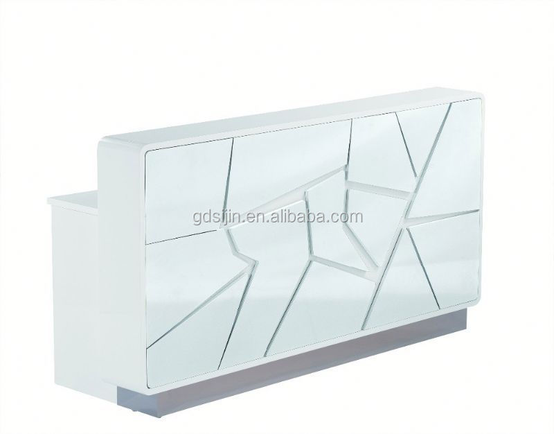 Modern Beautywhite Reception Desk Beauty Salon Furniture